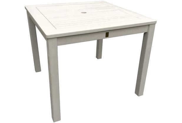 grasekamp gartentisch 90x90cm weiss holztisch tisch wei. Black Bedroom Furniture Sets. Home Design Ideas