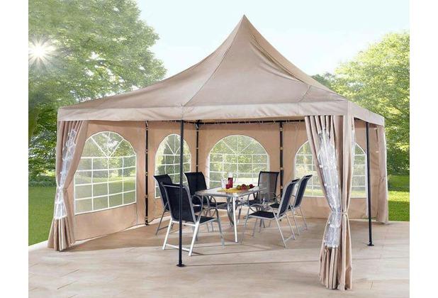 grasekamp lounge pavillon sahara 4x4m sand mit 2 seitenteile sand beige. Black Bedroom Furniture Sets. Home Design Ideas