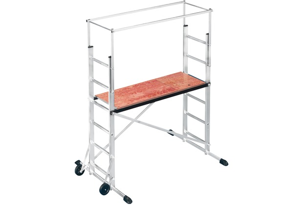hailo profistep multi aluminium leitern ger st mobil 2 x 6 sprossen. Black Bedroom Furniture Sets. Home Design Ideas