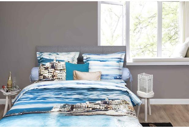 hnl mako satin bettw sche rijn blau. Black Bedroom Furniture Sets. Home Design Ideas