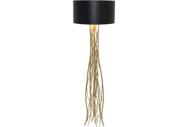 holl nder stehleuchte 1 flg capri eisen gold schirm. Black Bedroom Furniture Sets. Home Design Ideas