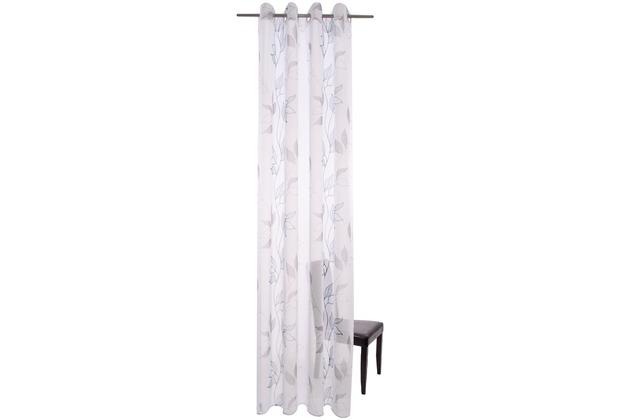 homing gardine leana grau blau 135 x 245 cm. Black Bedroom Furniture Sets. Home Design Ideas