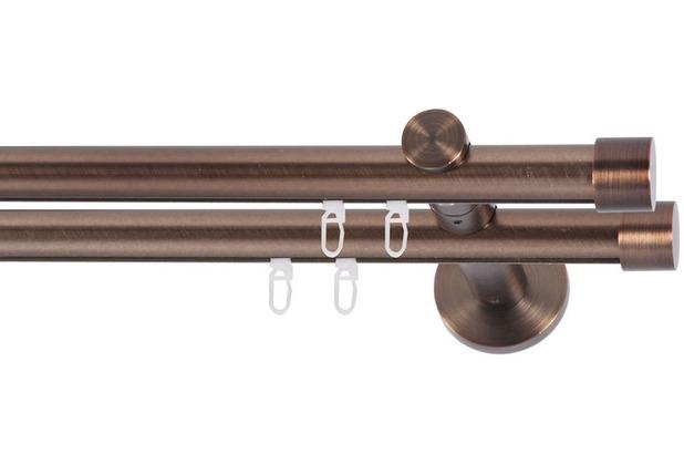 indeko gardinenstange yves 2 l ufig innenlauf bronziert. Black Bedroom Furniture Sets. Home Design Ideas