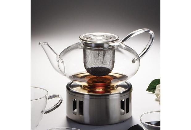 jenaer glas teekanne mit edelstahlsieb 1 3l tea concept. Black Bedroom Furniture Sets. Home Design Ideas