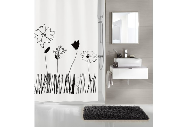 kleine wolke duschvorhang grace schwarz wei 180 x 200 cm. Black Bedroom Furniture Sets. Home Design Ideas