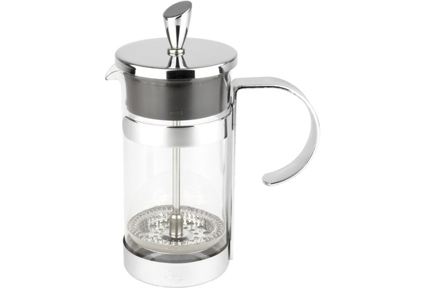 leopold vienna kaffeebereiter french press luxe 350ml silber. Black Bedroom Furniture Sets. Home Design Ideas