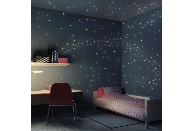 Leuchtende Sternenhimmel Tapete : mantiburi Wandtattoo Sternenhimmel 250er Set Leuchtsterne 21x52cm bei