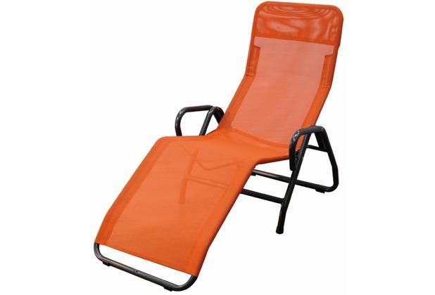 mfg b derliege pool 3 stahlrohrgestell grau gewebe terra l 139 x b 72 x h 118 cm. Black Bedroom Furniture Sets. Home Design Ideas