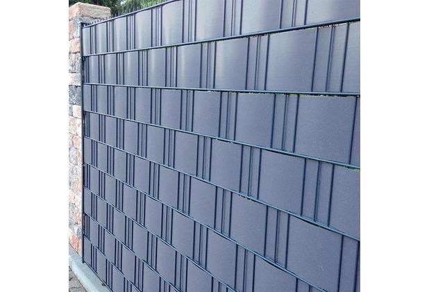 noor sichtschutzstreifen pvc 0 19x2 55m zaunblende hart farbe hellgrau ral 7040. Black Bedroom Furniture Sets. Home Design Ideas
