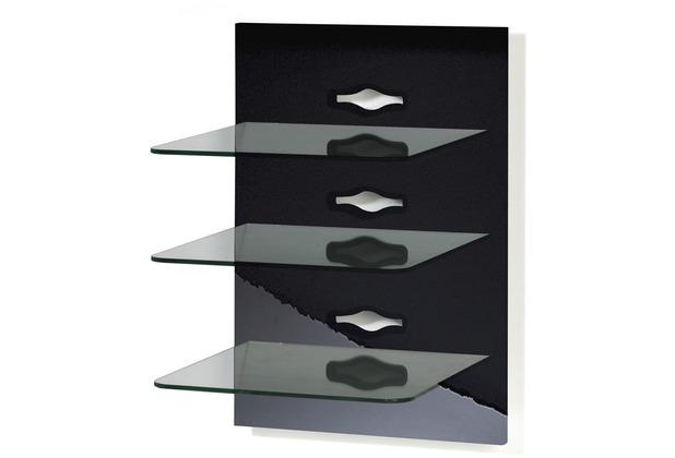 Paneelserie Xeno3, Schwarzlack  Klarglas  Hertiede