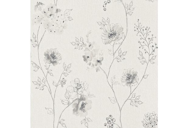 Rasch Vliestapete Blumen Blüten Aquarell, 573435