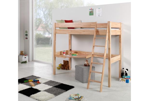 relita hochbett renate 90x200 lackiert natur. Black Bedroom Furniture Sets. Home Design Ideas