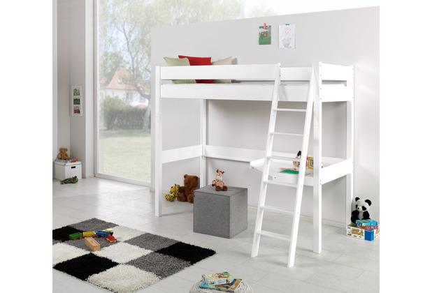 relita hochbett renate 90x200 lackiert wei. Black Bedroom Furniture Sets. Home Design Ideas