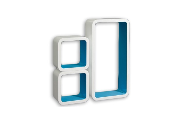vcm 3 tlg regal cube wand h ngeregal retro stand. Black Bedroom Furniture Sets. Home Design Ideas