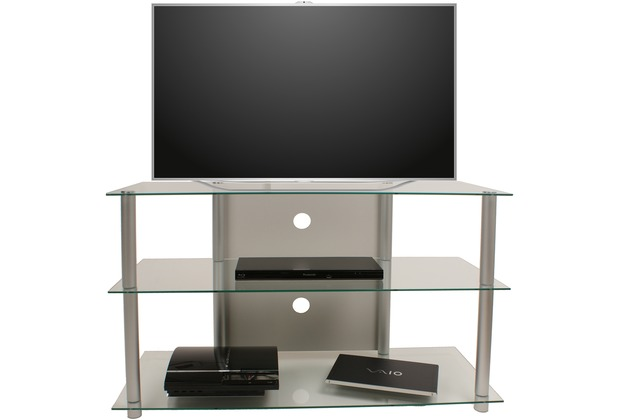 details zu alu glas tv rack hifi schrank regal. Black Bedroom Furniture Sets. Home Design Ideas