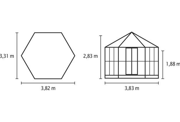 vitavia gew chshaus hera2 9000 esg inkl fundament gr n. Black Bedroom Furniture Sets. Home Design Ideas