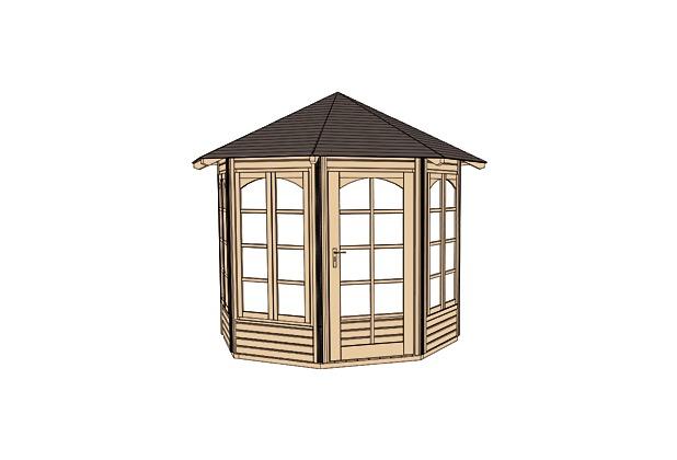 weka 8 eck pavillon 234 b. Black Bedroom Furniture Sets. Home Design Ideas