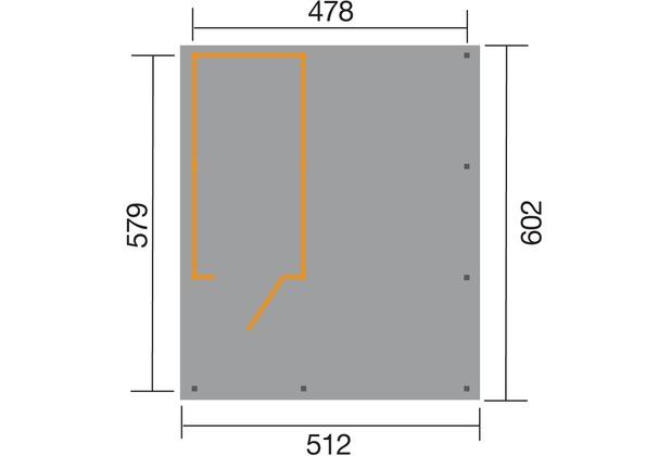 weka carport 607 gr 2 inkl xl ger teraum. Black Bedroom Furniture Sets. Home Design Ideas