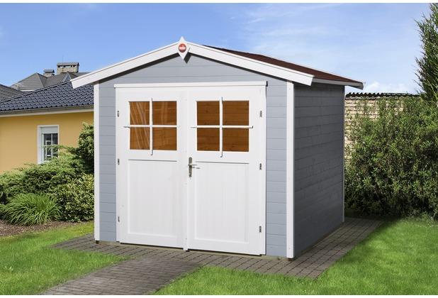 weka gartenhaus 224 gr 3 grau 21 mm dt ebay. Black Bedroom Furniture Sets. Home Design Ideas