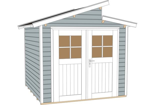 weka gartenhaus 226 gr 1 grau 21 mm ebay. Black Bedroom Furniture Sets. Home Design Ideas