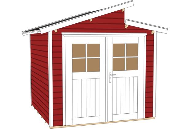 weka gartenhaus 226 gr 2 schwedenrot 21 mm ebay. Black Bedroom Furniture Sets. Home Design Ideas