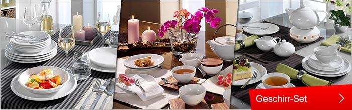 Haushalt , Geschirr-Service und -Set , Geschirr und Porzellan , Gedeckter Tisch und Deko