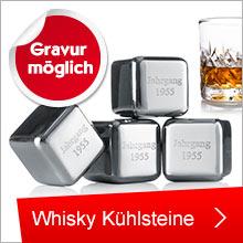 Whisky Kühlsteine mit eigener Gravur