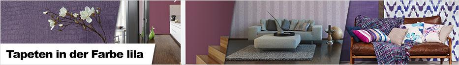 tapete in der farbe lila flieder. Black Bedroom Furniture Sets. Home Design Ideas