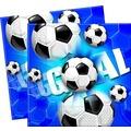 """PROCOS 2-lagige Papierserviette mit Motiv """"Fussball blau"""", 20 Stück"""