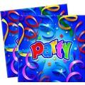"PROCOS 2-lagige Papierserviette mit Motiv ""Party Streamers Prismatic"", 20 Stück"