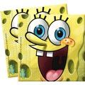 "PROCOS 2-lagige Papierserviette mit Motiv ""Spongebob`s Party"", 20 Stück"