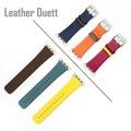 4smarts Leather Duett Armband für Apple Watch Series 4 (44mm) & 3/2/1 (42mm) gelb/rot