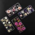 4smarts Soft Cover Glamour Bouquet für Huawei P20 lite weiße Blumen/silberne Flocken