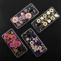 4smarts Soft Cover Glamour Bouquet für Samsung Galaxy A8 (2018) violette Blumen/silberne Flocken