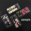 4smarts Soft Cover Glamour Bouquet für Samsung Galaxy S10e weiße Blumen/silberne Flocken