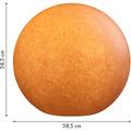 8 Seasons Dekoleuchte Shining Globe 'Grey' 30 cm