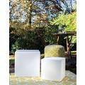 8 Seasons Shining Cube 43 cm weiß