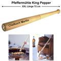 "Cole & Mason King Pepper große Pfeffermühle ""Baseballschläger"" MIT GRAVUR (z.B. Namen) XXL Länge 72 cm"