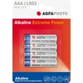 AGFAPHOTO Batterie Alkaline, Micro, AAA, LR03, 1.5V Extreme Power, Retail Blister (4-Pack)