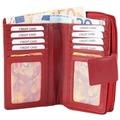 Akzent Damen Geldbörse aus Echtleder. Format 15 x 10 cm. Rot 3000016-003