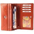 Akzent Damen Geldbörse aus Echtleder. Format 17 x 11 cm. Braun 3000015-005