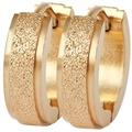 Akzent Edelstahl Klapp-Creolen, IP Gold, goldfarbig 5050185-002
