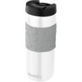 aladdin Isolierbecher Easy Grip MIT GRAVUR (z.B. Namen) 470ml weiß aus Edelstahl Thermobecher 100% auslaufsicher