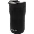 aladdin Isolierbecher Latte MIT GRAVUR (z.B. Namen) 250ml schwarz aus Edelstahl Thermobecher 100% auslaufsicher