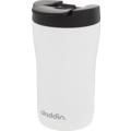 aladdin Isolierbecher Latte MIT GRAVUR (z.B. Namen) 250ml weiß aus Edelstahl Thermobecher 100% auslaufsicher