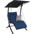 Angerer Hollywoodschaukel 1-Sitzer Swing blau 100 cm breit