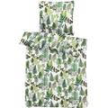 APELT Bettwäsche Moritz weiß/grün 135x200+80x80 cm