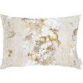 APELT Christmas Elegance Kissen Blüten, Weihnachtsschmuck und Zweigen natur / gold 35x50 cm