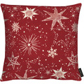 APELT Christmas Elegance Kissen Sternenmotiv als all-over rot / gold 39x39 cm