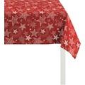 APELT Christmas Elegance Tischdecke rot/platin 150x250